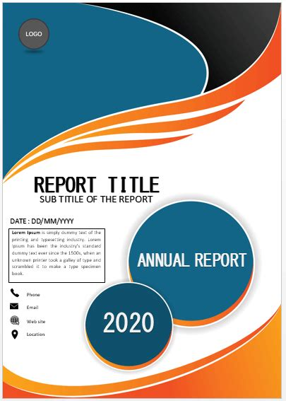 cover page classic annual report cover page cover pages
