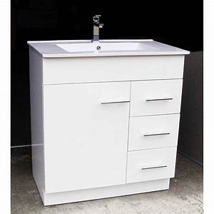 Artemis wp750r 750mm polyurethane bathroom vanity unit for How high should a bathroom vanity be