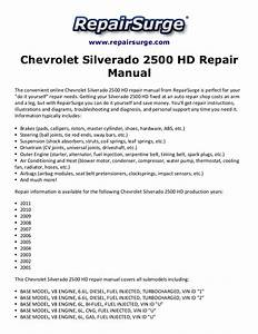 Chevrolet Silverado 2500 Hd Repair Manual 2001