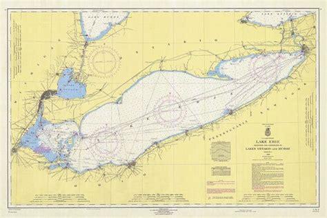 nautical chart  lake erie lake erie lakes