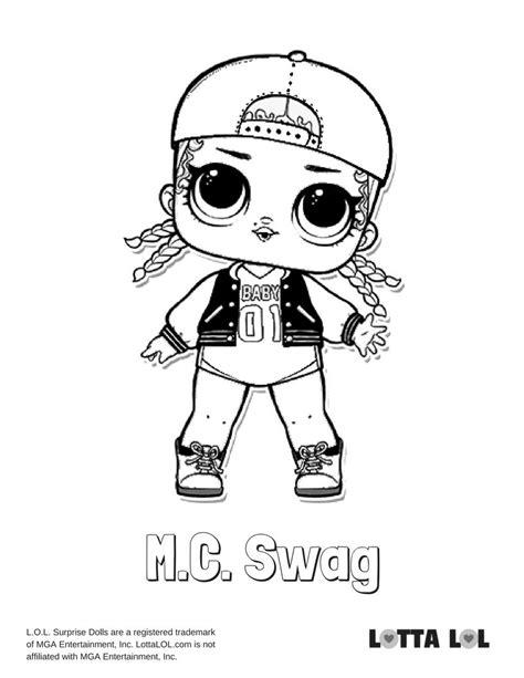 Kleurplaat Mc 2 by Mc Swag Coloring Page Lotta Lol Lol Dolls