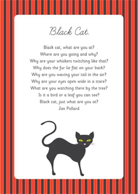 black cat poem eyfs  ks  early years primary