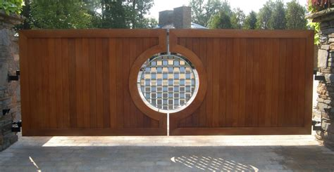 exterior gate designs mesmerizing rounded artwork panels wooden driveway gates as amazing wooden front gate also