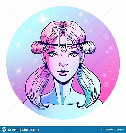Capricorn Symbol Zodiac Horoscope Artwork Face Segno