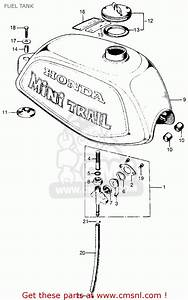 Honda Z50a Mini Trail K4 1973 Usa Fuel Tank