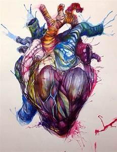 Heart drawing   Art   Pinterest   Tattoo, Drawings and Anatomy