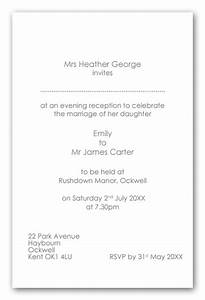 wedding invitation wording wedding invitation wording With example wedding evening invitation wording