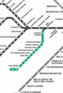 bostons  map  bars    mbta bar map