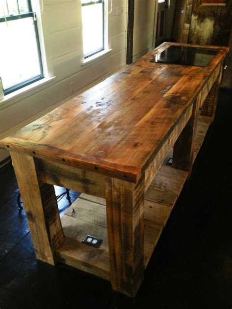 hand crafted rustic kitchen island  eb mann