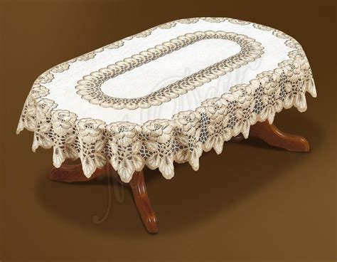oval tablecloth oval lace cream dark gold tablecloth new 51 quot x71 quot 130x180cm perfect present ebay