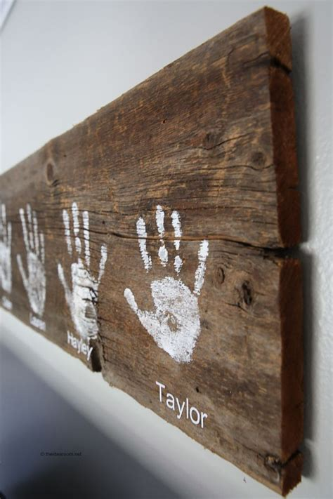 diy handprint wall sign diy wood signs wall signs kids