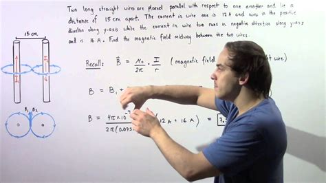 magnetic field midway between two anti parallel wires