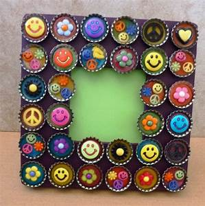 handmade photo frame craft project ~ crafts and arts ideas