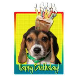 acrylic cupcake stand birthday cupcake beagle puppy photo cutouts zazzle