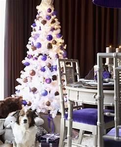 Déco de table pour Noel violet décor de Noël