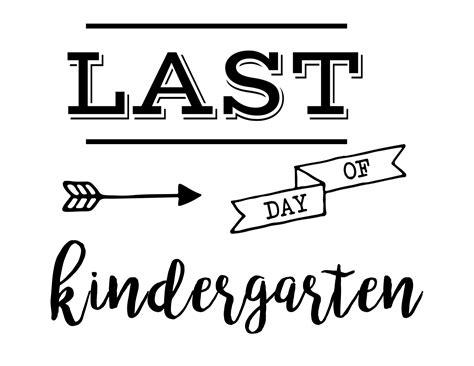 last day of preschool printable last day of school sign free printable paper trail design 802