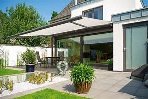 Patio and balcony awnings markilux for Katzennetz balkon mit hotel can garden side