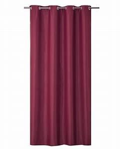 Rideau Grande Largeur : rideau occultant uni grande largeur rouge blanc beige taupe gris homemaison ~ Teatrodelosmanantiales.com Idées de Décoration