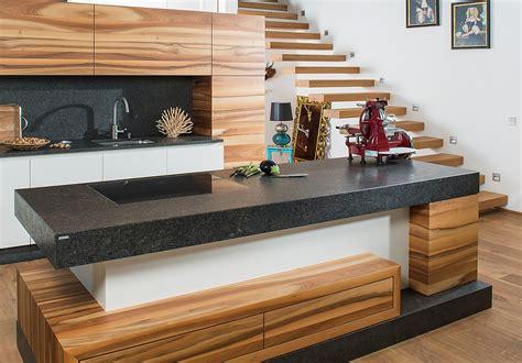 Moderne Küche In Holz Und Weiß Mit Leather Look