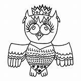 Crone Owl Depositphotos sketch template