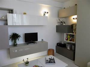 petit appartement de 40m2 cuisine entree salon dressing With attractive comment meubler un studio 10 amenager un appartement de 40 m2