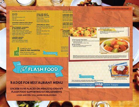 cuisine flash flash food caign chaloupka design