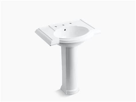 kohler devonshire pedestal sink 27 devonshire pedestal sink with 8 inch centers k 2294 8