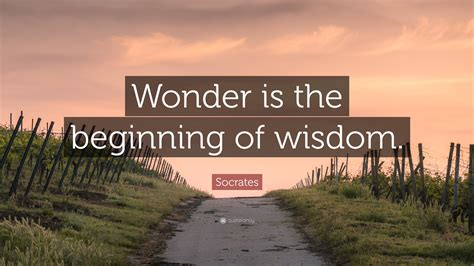 Socrates Quote: Wonder is the beginning of wisdom (18