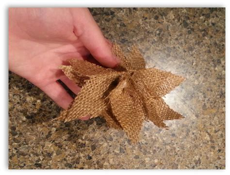 hometalk how to make burlap poinsettia christmas ornaments