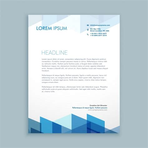 modern letterhead template  vector
