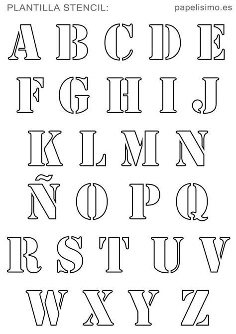 plantillas abecedario stencil para imprimir alphabet font decoracion alfabeto decorazioni y