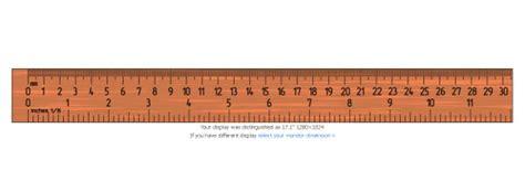 Auf dem lineal sind maßangaben in zentimeter und zoll aufgedruckt. Internetowa linijka - Przydatne strony internetowe - WP Tech