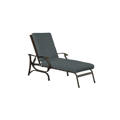 hton bay pembrey all weather wicker patio chaise lounge