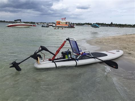 install electric motor    paddle board