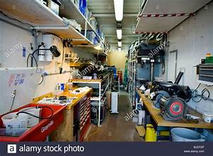 An Improvised Workshop Built Inside A Shipping Container