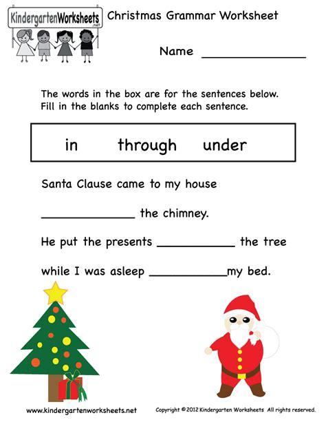 Christmas Worksheets Printables  Happy Holidays