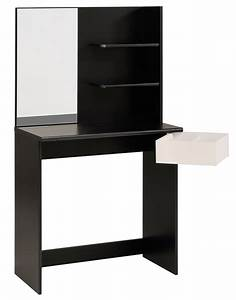 Coiffeuse Meuble Noir : coiffeuse pimpante noir ~ Farleysfitness.com Idées de Décoration