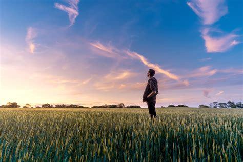 image libre ciel ble champ homme agriculture nature