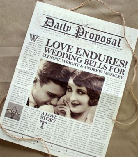 unusual newspaper ideas   wedding weddingomania