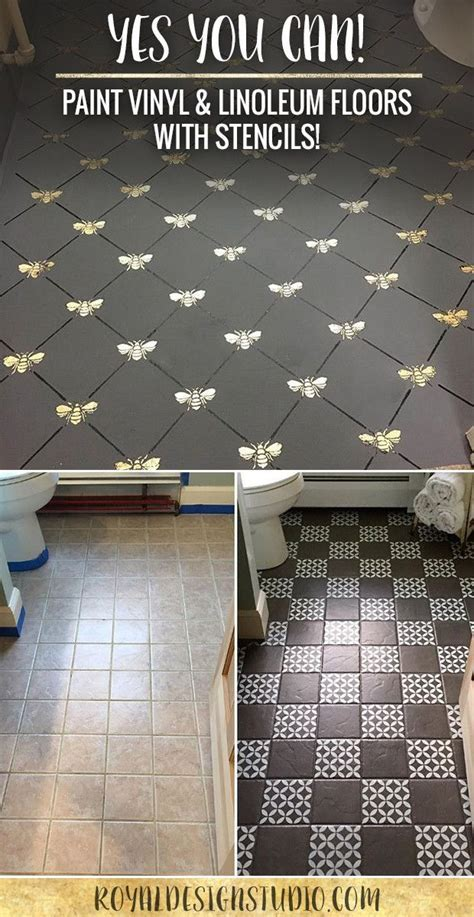 Paint Vinyl & Linoleum with Floor Stencils   8 DIY Decor