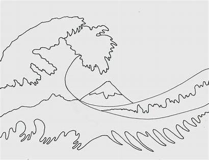 Wave Hokusai Project Waves Ocean Drawing Water