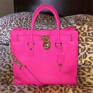 michael kors neon pink handbag on Poshmark