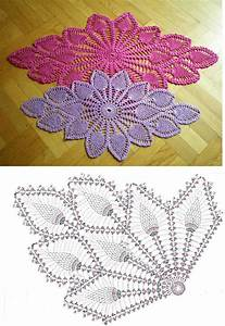 Diamond Oval Pineapple Doily Free Pattern Diagram