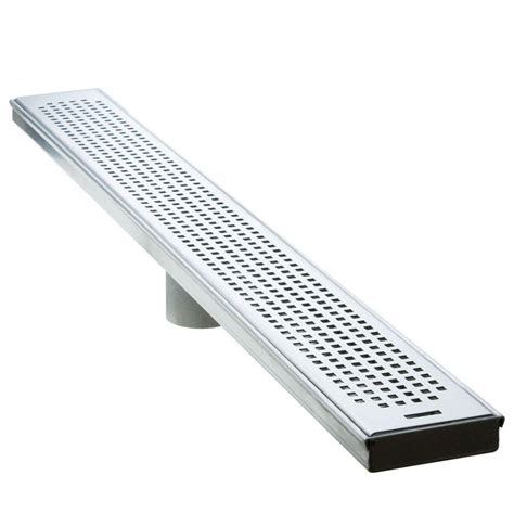 Luxe 30 In Stainless Steel Linear Shower Drain  Squares