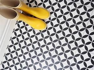 Vinyl Carreau Ciment : vinyl carreaux de ciment carrelage ciment noir et blanc ~ Preciouscoupons.com Idées de Décoration