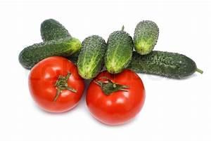 Gewächshaus Gurken Und Tomaten : tomaten und gurken isoliert auf wei stockfoto colourbox ~ Whattoseeinmadrid.com Haus und Dekorationen