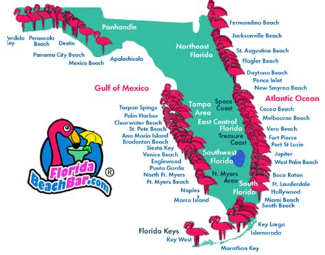 florida map   beaches click   area