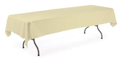 tablecloth for 8 foot table banquet table cloth ivory cover for 8 ft tables