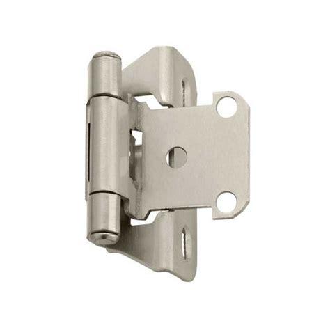 amerock cabinet hinge parts amerock partial wrap 1 4 quot overlay satin nickel sold per
