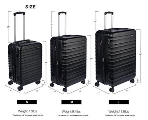 amazonbasics hardside spinner luggage   carry